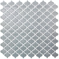 BeausTile Decorative Grigio 4-piece Decorative Adhesive Faux Tile Sheets