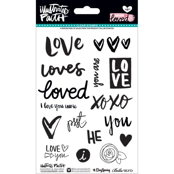 Illustrated Faith Clear Stamps-You Are Loved