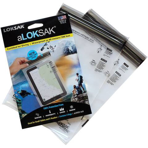 "Loksak aLoksak Resealable Waterproof Storage Bags (2 Pack) - 6"" x 9"" - Clear - 6"" x 9"""