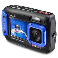 Ivation 20MP Underwater Waterproof Shockproof Digital Camera, Dual LCD Display