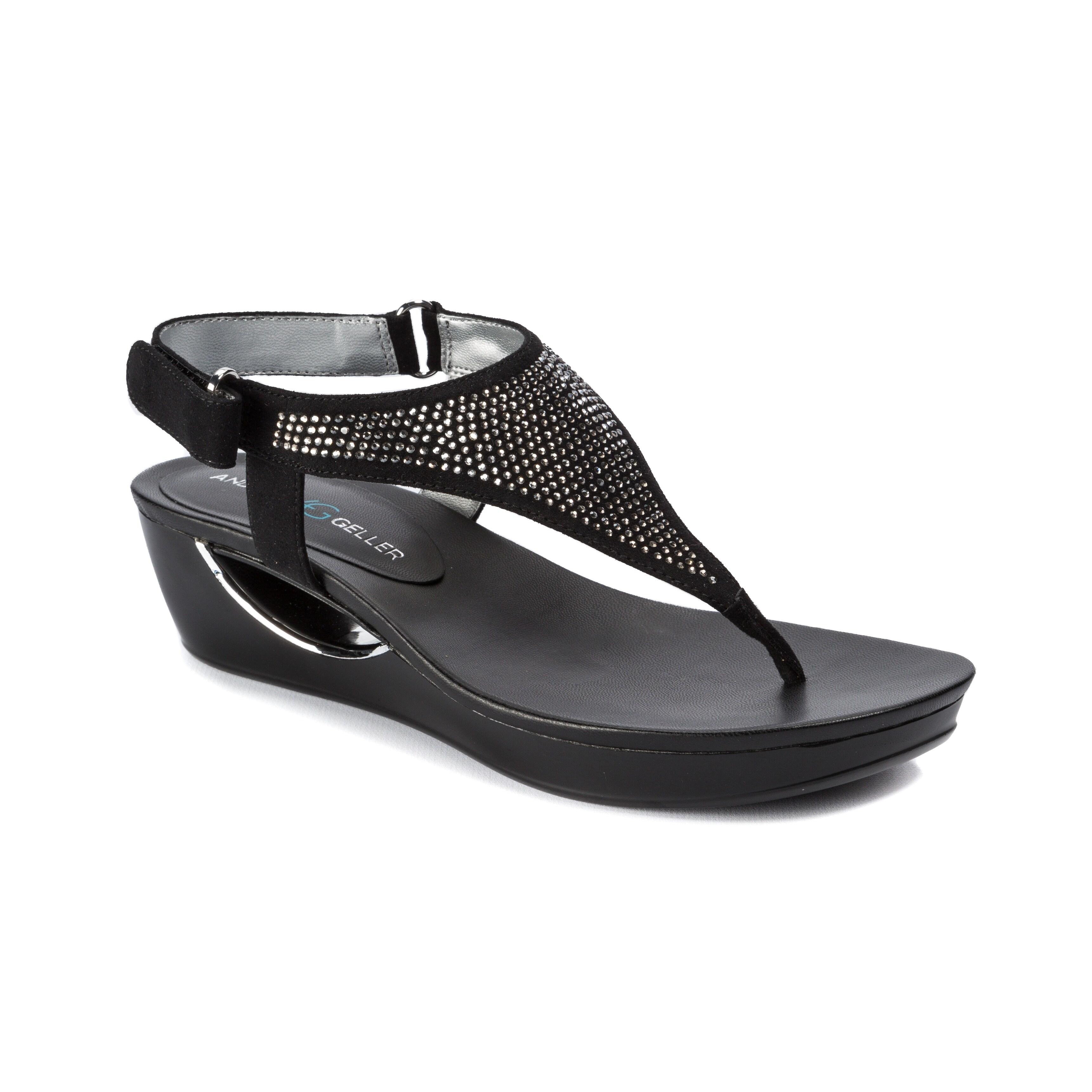 Carlita Wedge Sandals Andrew Geller Womens