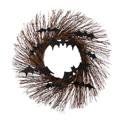 """26"""" Halloween Bats Twig Wreath - 26"""