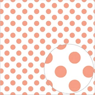 "Bazzill Printed Acetate Dots Sheets 12""X12""-Roselle"