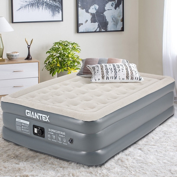 Shop Giantex Queen Size Luxury Raised Air Mattress Inflatable Airbed