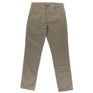 Dockers Mens Alpha Khaki Pants Slim-Tapered Herringbone
