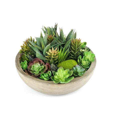 MODA MDW-1036-0702 wood pot decoration - 14.17*14.17*9.45 inches