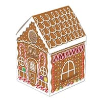 "Club Pack of 12 Gingerbread House Centerpiece Christmas Decorations 8"" - brown"