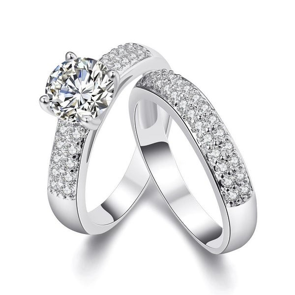 White Gold Plated Ring Matching Middi Ring