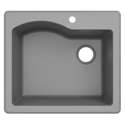 KRAUS Quarza Granite 25 inch Undermount Drop-in Kitchen Sink