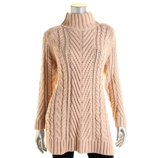 Vince Camuto Womens Open Stitch Turtleneck Pullover Sweater