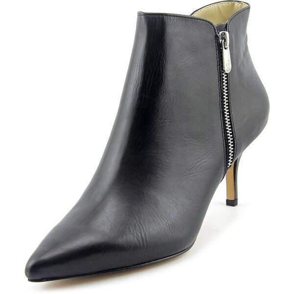 Adrienne Vittadini Senji Women Pointed Toe Leather Black Bootie