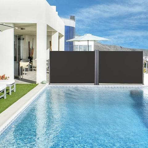 Double Retractable Privacy Screen, Room Divider
