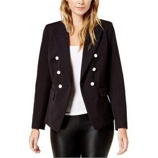 Kensie Womens Double-Breasted One Button Blazer Jacket