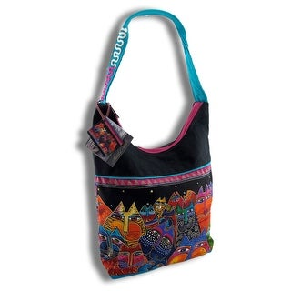 Laurel Burch `Fantasticats` Medium Canvas Hobo Bag