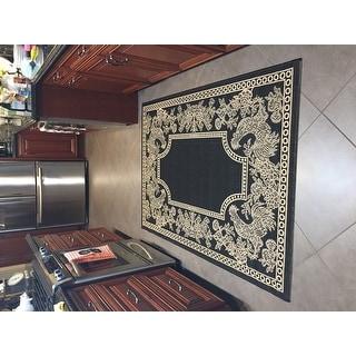 Safavieh Rooster Black/ Sand Indoor/ Outdoor Rug