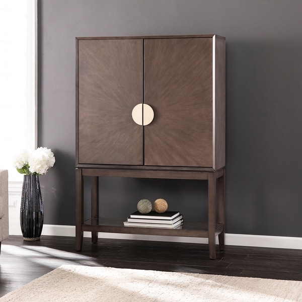 Strick & Bolton Barlow Contemporary Gray Wood Storage Cabinet. Opens flyout.