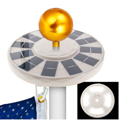 Solar Power Flagpole 144 LED Light - Powerful Solar Panels,144 Ultra Bright LEDs Flag Pole Light, Waterproof & Auto On Off