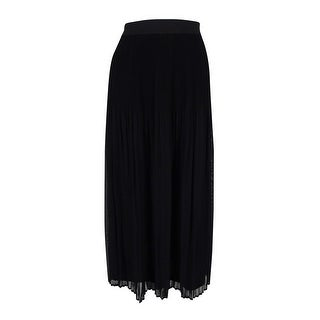 NY Collection Women's Elastic Waist Pleated Skirt - M