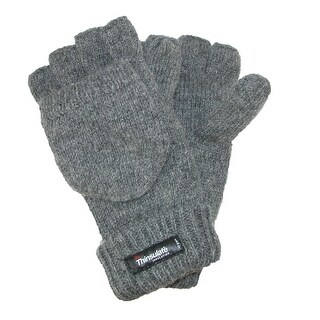 Dorfman Pacific Men's Rag Wool Convertible Gloves (2 options available)