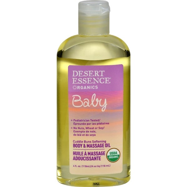 Desert Essence Baby Body and Massage Oil Cuddle Buns Softening Fragrance Free - 4 fl oz