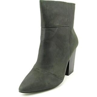 Kelsi Dagger Zidane Women Pointed Toe Leather Black Ankle Boot