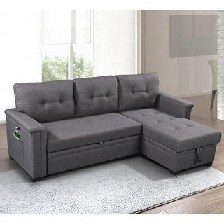 Link to Ashlyn Reversible Sleeper Sofa with Storage Chaise Similar Items in Living Room Furniture