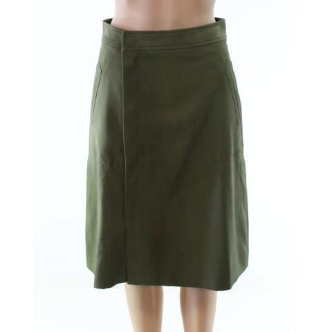 J. Crew Womens Petite A-Line Zip-Detail Wrap Skirt