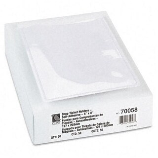 C-Line Shop Ticket Holders with Self-Adhesive Back 5 x 8 Clear