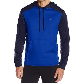 CHAMPION NEW Blue Mens Size Medium M Pocket Coloblocked Hooded Sweater