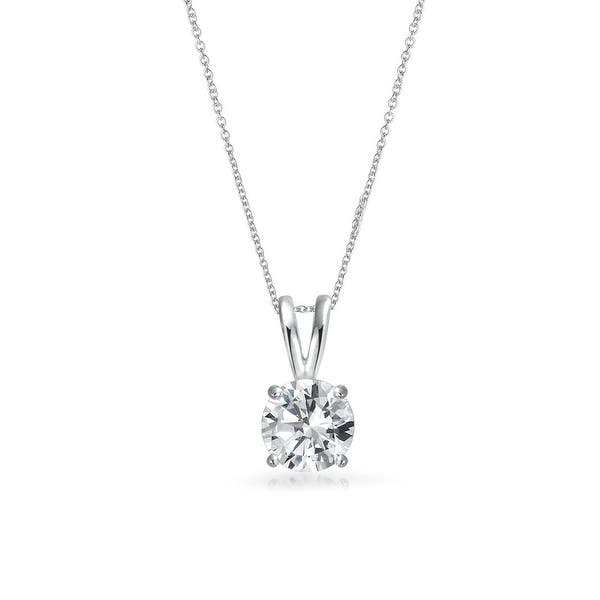 Silver pendant with CZ