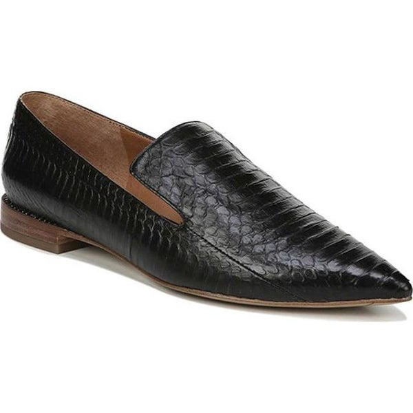 Topaz Pointed Toe Loafer Black Leather