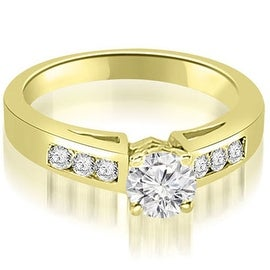 1.20 cttw. 14K Yellow Gold Channel Set Round Cut Diamond Engagement Ring