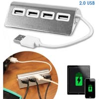 Aluminum 4 Port USB Hub