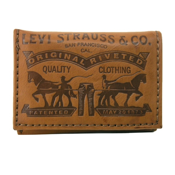 Levis Men's Leather Embossed Trifold Wallet - One size