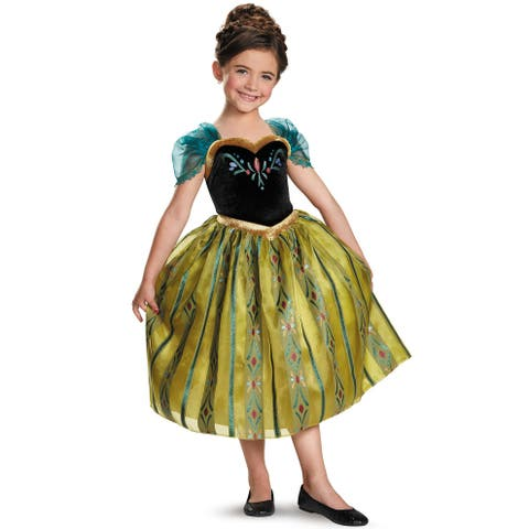Disguise Anna Coronation Gown Deluxe Child Costume - Yellow/Green