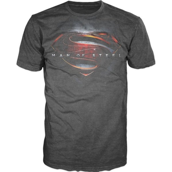 61a5a77b Shop DC Comics Superman Man of Steel Movie Logo Mens T-Shirt - Free  Shipping On Orders Over $45 - Overstock - 25583434