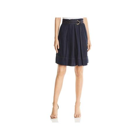 Donna Karan Womens A-Line Skirt Belted Knee-Length