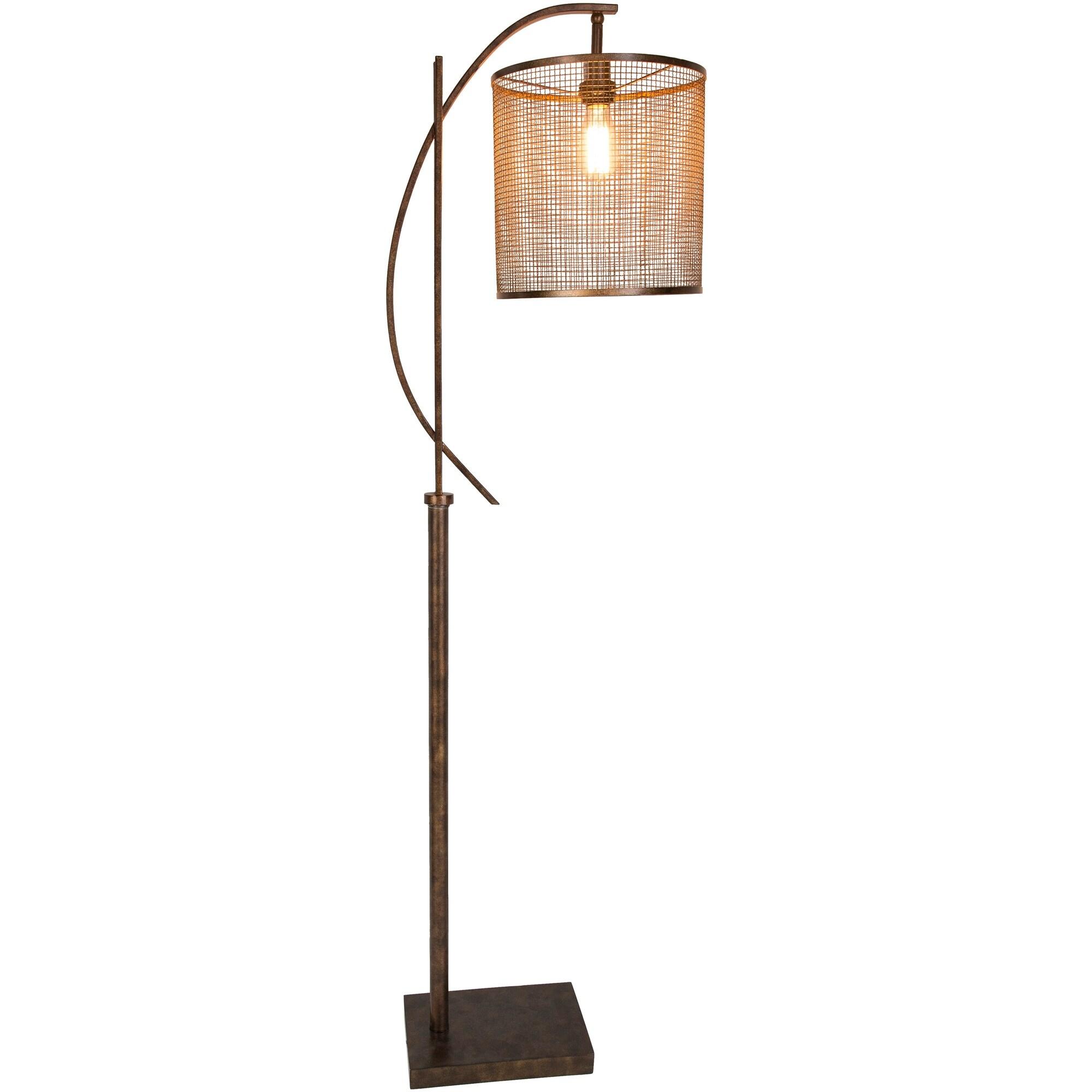 Cabot 65 In Brown Modern Floor Lamp Overstock 18095124
