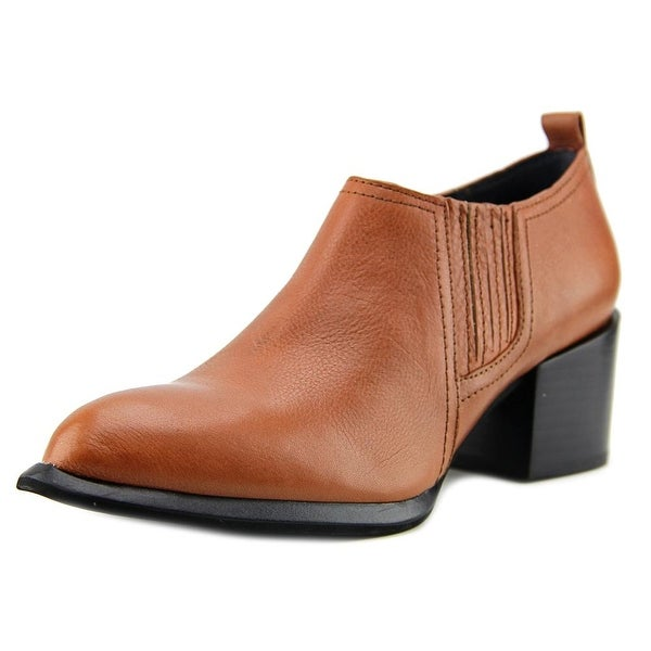 Calvin Klein Jeans Neili Women Pointed Toe Leather Tan Ankle Boot