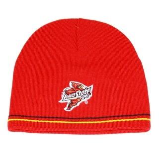 NCAA Iowa State University Cuffless Knit Beanie Red Beanie- 2