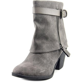 Blowfish Shocks Women Round Toe Canvas Gray Ankle Boot