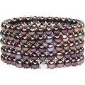 D'AMA Women's Pearl Bracelet - Easy-On Stretch 5 Strand With Stainless Steel Spacer Beads - Thumbnail 5