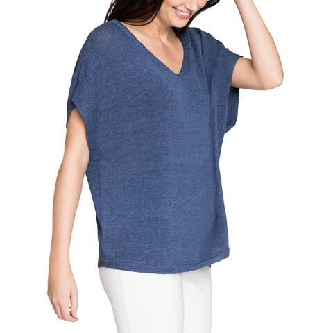 Nic+Zoe Petite Linen-Blend Sweater