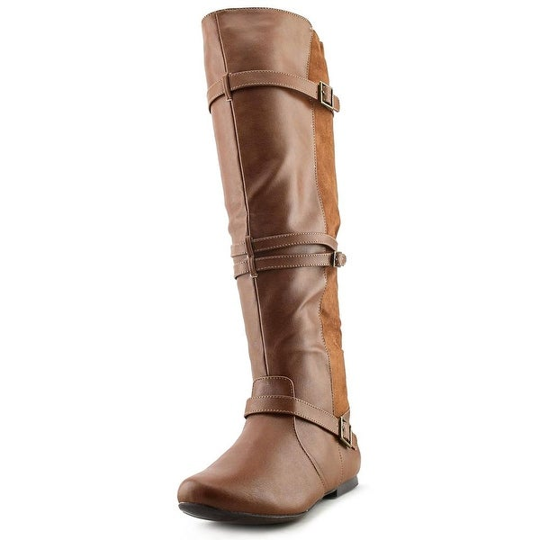 Qupid Neo-152X Women Round Toe Synthetic Knee High Boot