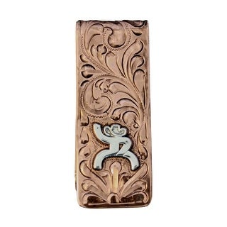 HOOey Western Money Clip Mens Roughy Engraved Copper HY321-015 - One size