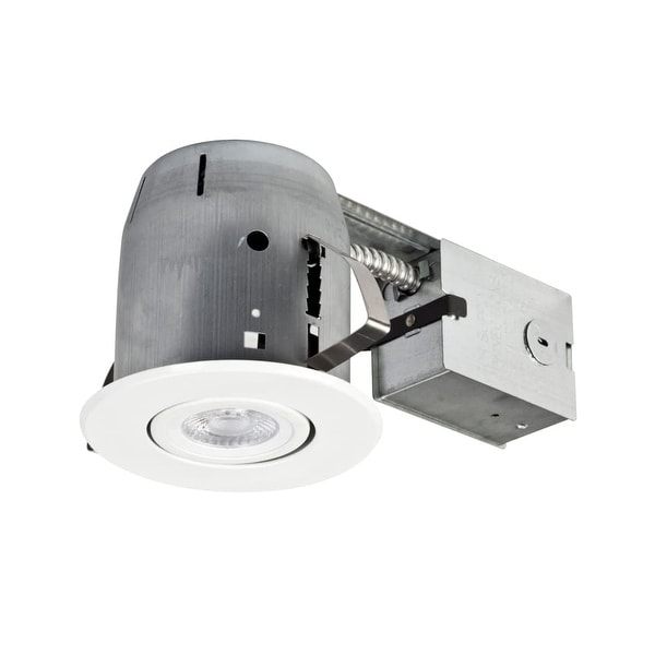 """Globe Electric 90746 5"""" Remodel Recessed Trim and Housing with 3000K LED Bulb Included"""