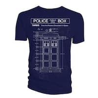 Doctor Who Classic Mens T-Shirt Tardis Print (Fig 6 Scribbles)