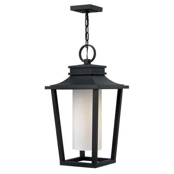 "Hinkley Lighting 1742 Sullivan 1-Light 11-3/4"" Wide Outdoor Pendant with Etched Opal Glass Shade - n/a"