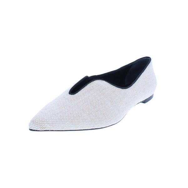 bf4f1f1c5b977 Tory Burch Womens Lucia Pointy-Toe Flats Pointed Textured - 10 Medium (B