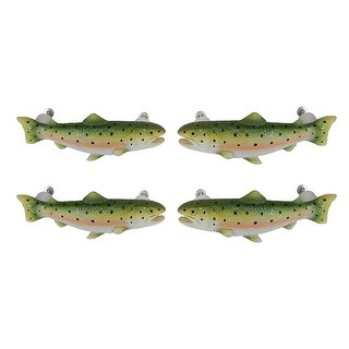 Set of 4 Rainbow Trout Drawer / Cabinet Door Pulls